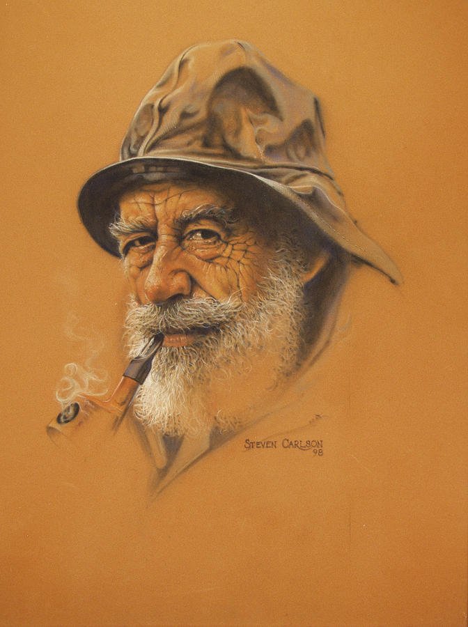 Fisherman Painting - Fisherman by Steven Paul Carlson