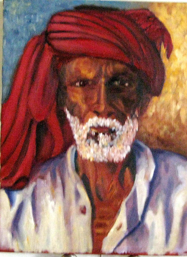Portrait Painting - Fisherman by William Kairala