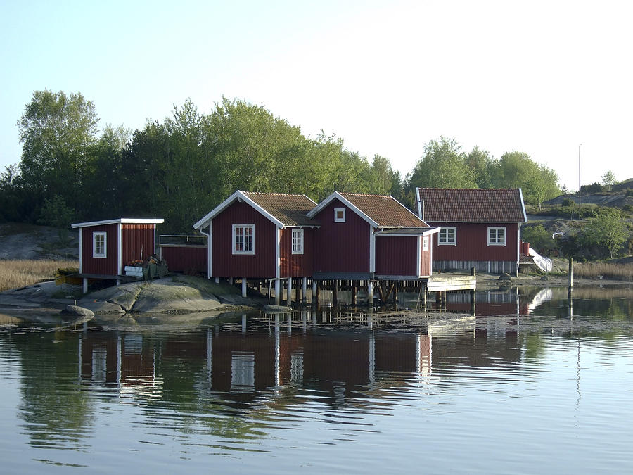Summer Photograph - Fishermans Huts by Dan Andersson