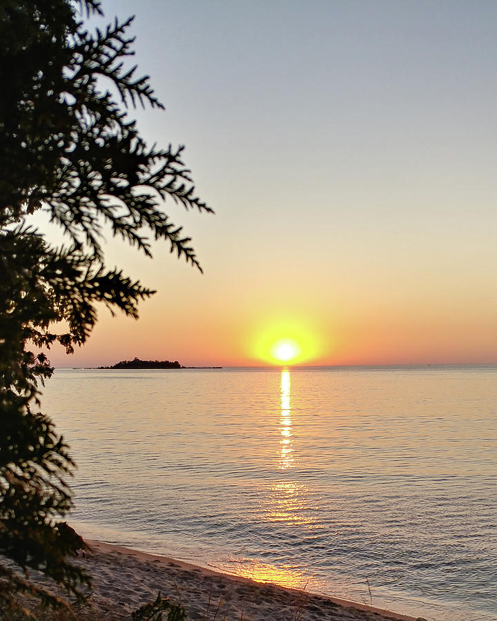 Photograph Photograph - Fishermans Island Sunset by Marcia Wolf