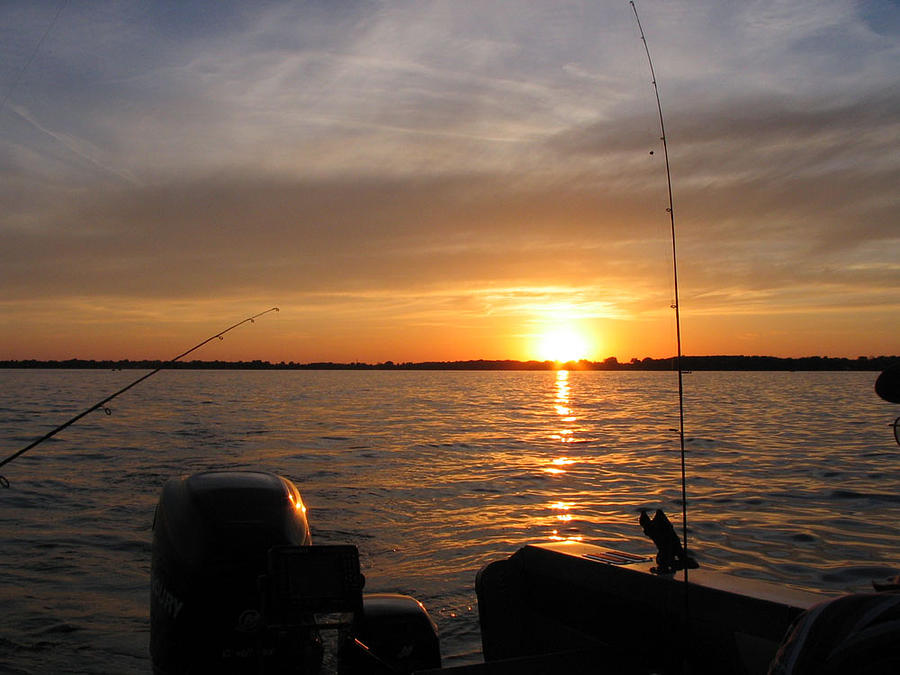 Fishermans Sunset Photograph by Jack G  Brauer