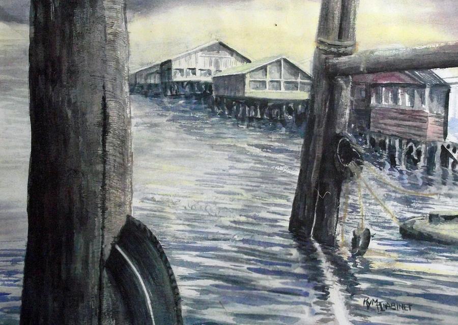 Wharf Painting - Fishermans Wharf by Kym Inabinet