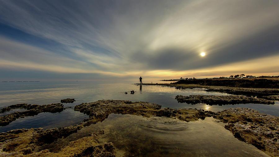 Silhouette Photograph - Fishermans Zen  by Stelios Kleanthous
