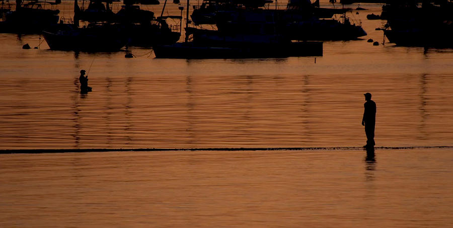 Fishermen at Sunset by Rick Macomber