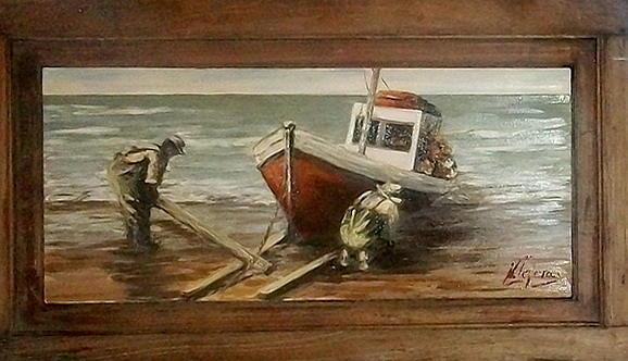 Marine Painting - Fishermen S Evening by Natalia Tejera