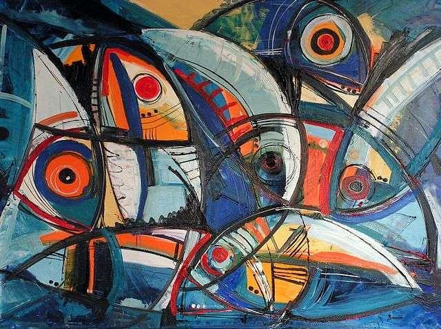 Painting Painting - Fishes by Jasminka  Banusic