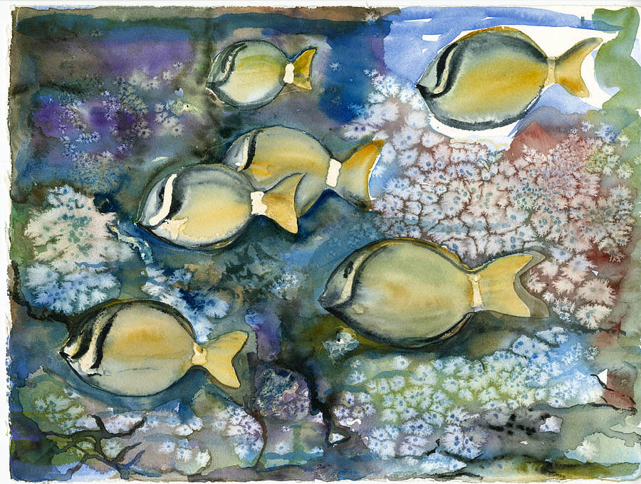 Fishies Painting by Ileana Carreno