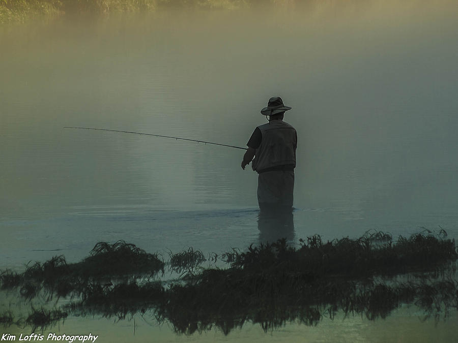 Fishing Photograph - Fishing On The White River  by Kim Loftis