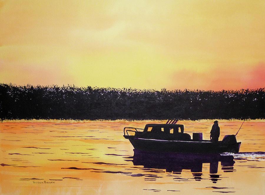 Fishing at Dawn by Susan Bauer