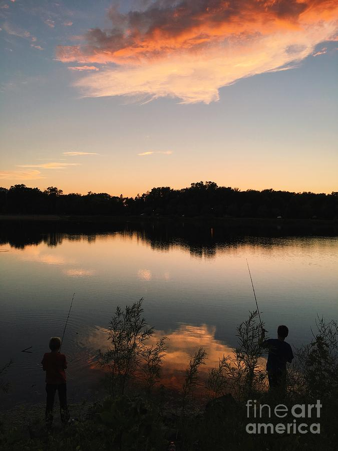 Fishing at Dusk by Kristen Kopp
