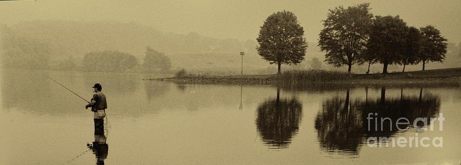 Fishing Photograph - Fishing At Marsh Creek State Park Pa. by Jack Paolini