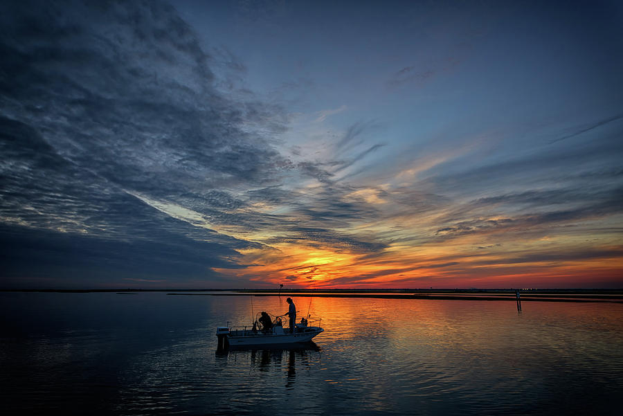 Sunset Photograph - Fishing At Sunset by Rick Berk