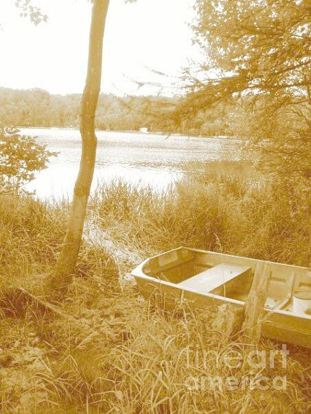 Fishing boat  by Amanda Jane Kohler
