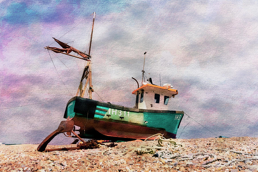 Fishing Boat at Aldeburgh by Paul Cullen