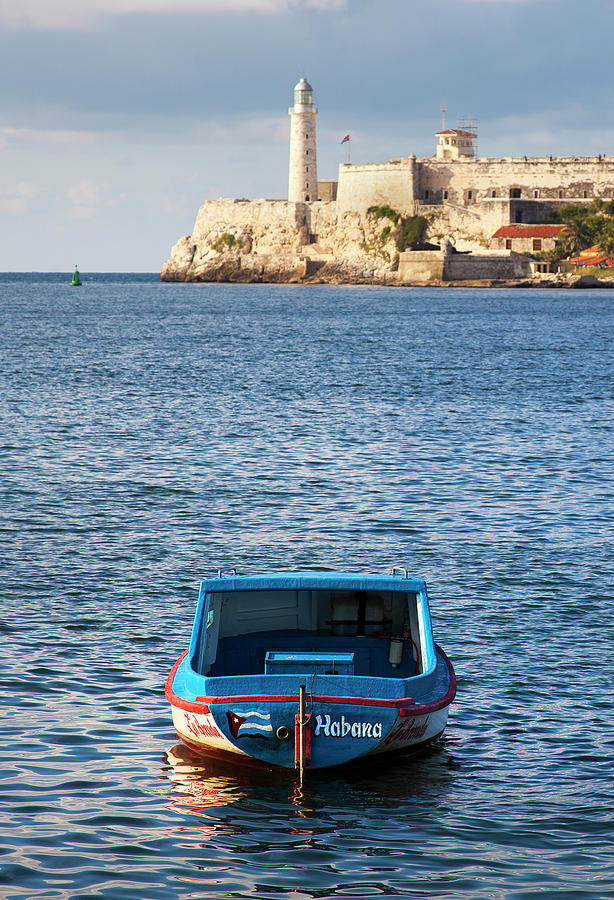 Fishing Boat at Morro Castle Havana Cuba by Charles Harden