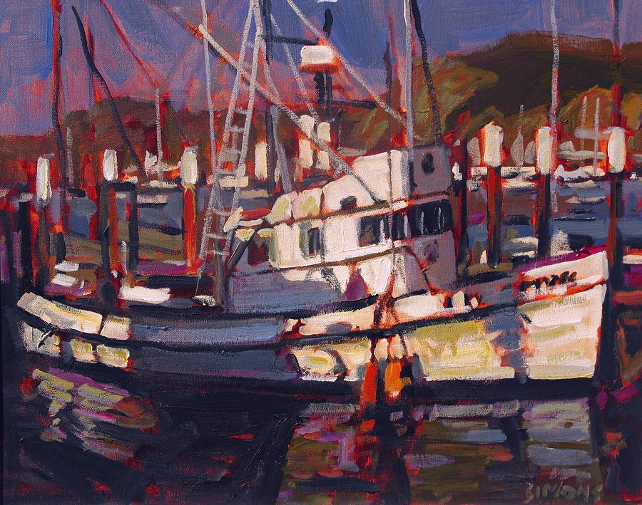 Fishing boat painting by brian simons for Fishing boat painting