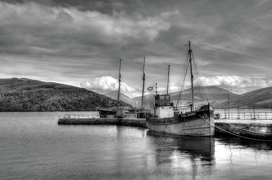 Seascape Photograph - Fishing boat in Scotland by Peggy Berger