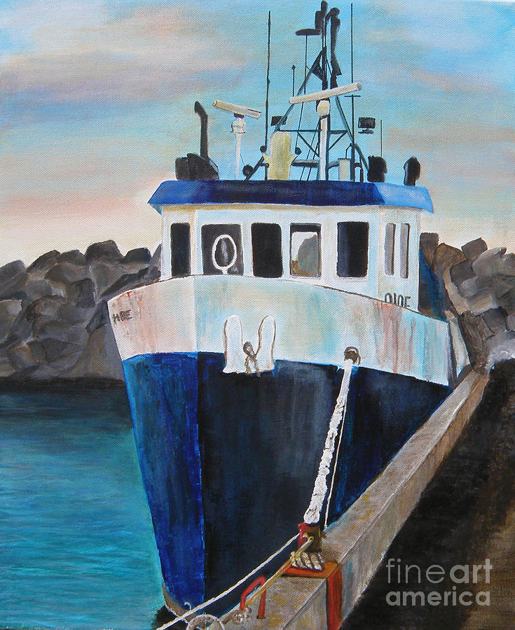 Fishing Boat Painting - Fishing Boat  by Jo Baby