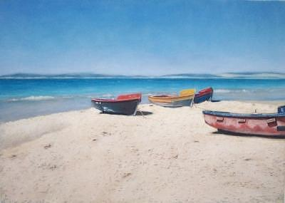 Seascape Painting - Fishing Boats II by Rose Baggs