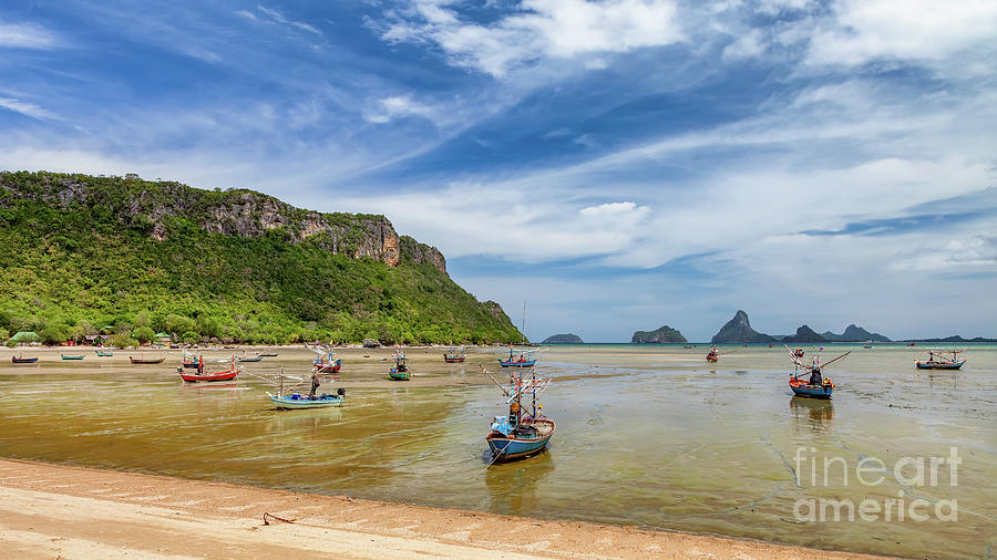 Thailand Photograph - Fishing Boats Thailand by Adrian Evans