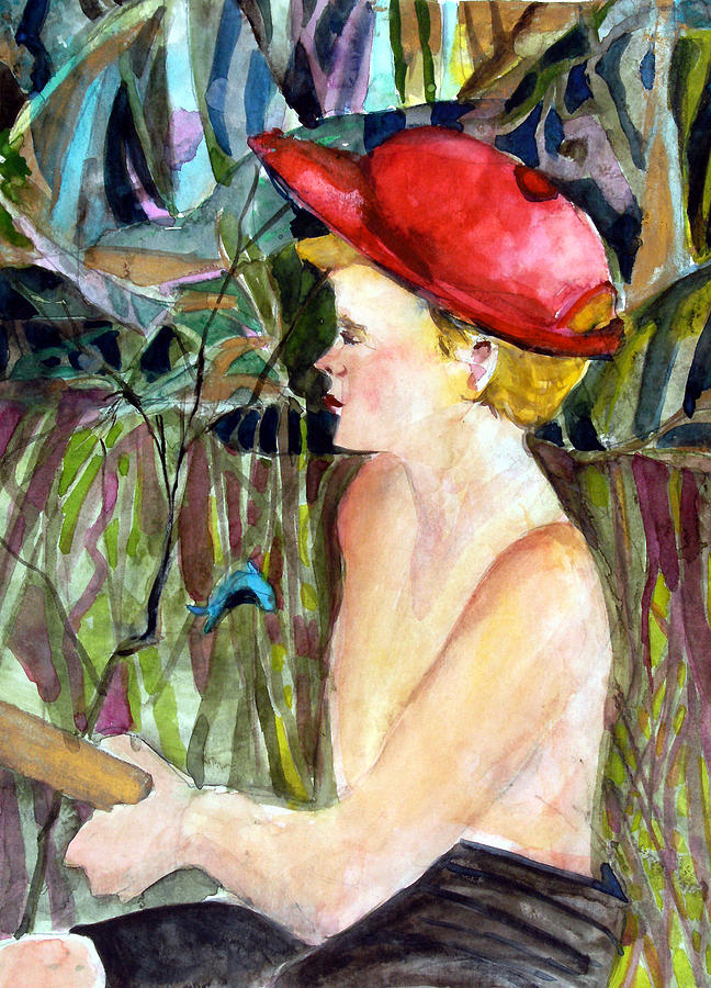 Boy Painting - Fishing Boy by Mindy Newman