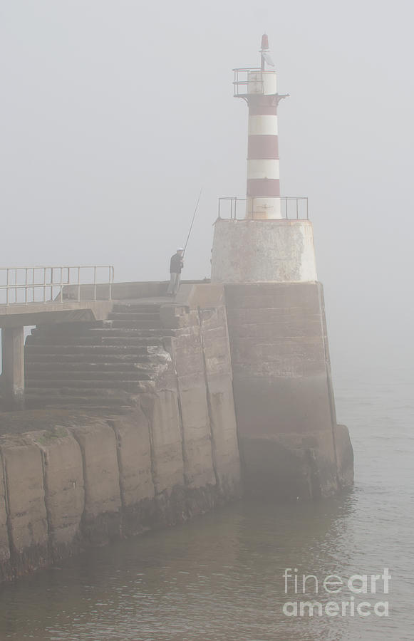 Fishing Photograph - Fishing In The Mist. by John Cox