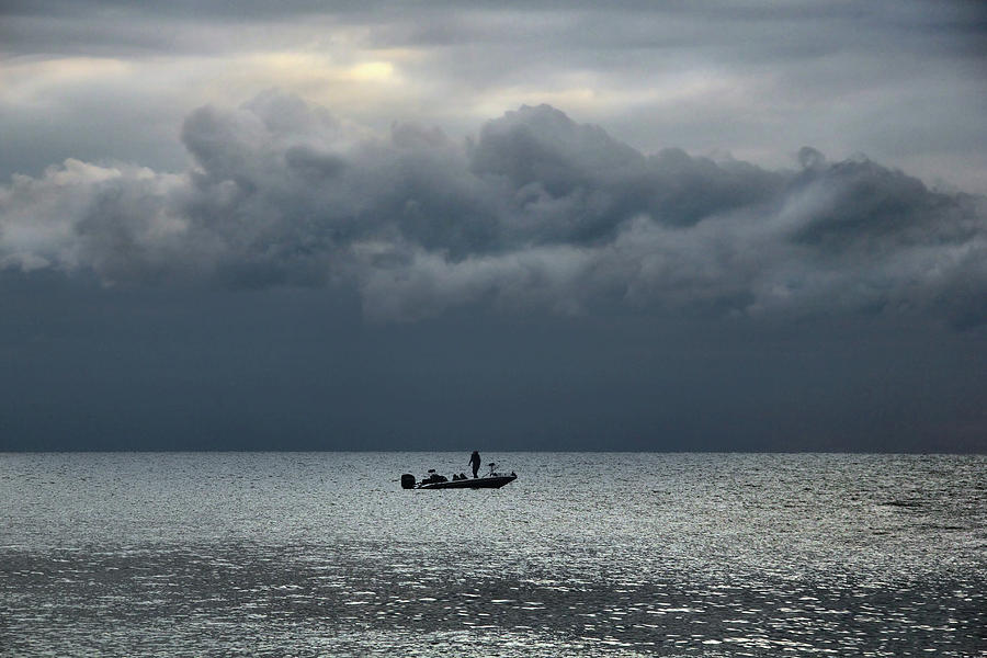 Lake Erie Photograph - Fishing in the Morning by Angela Murdock