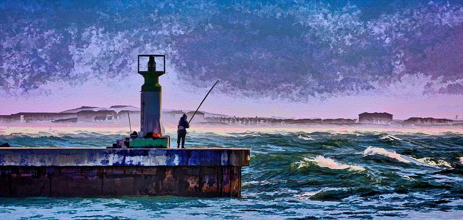 Sea Photograph - Fishing by John Clemens
