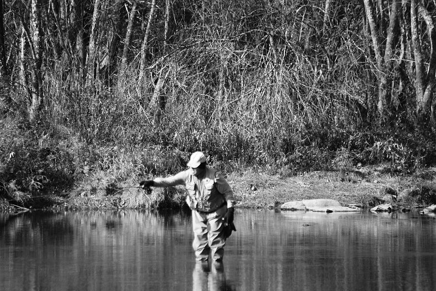 Fishing Photograph - Fishing by Lisa Johnston