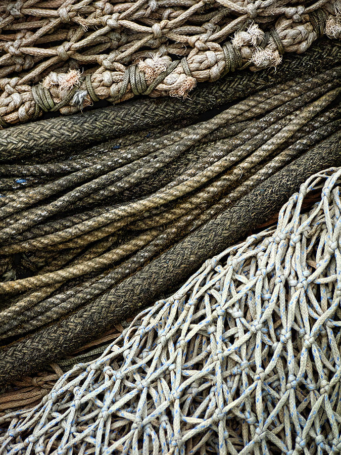 Fishing Photograph - Fishing Nets by Carol Leigh