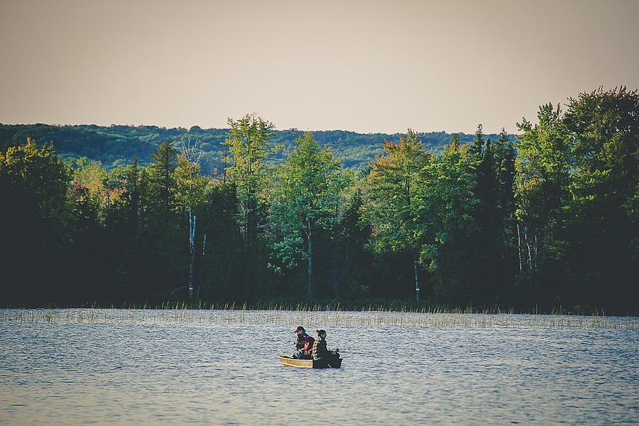 Fishing Photograph - Fishing on a quite lake by Maxwell Dziku