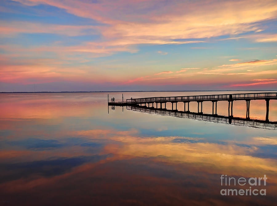 Fishing Pier Duck OBX by Jeff Breiman