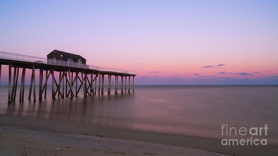 Fishing Pier Sunset Photograph