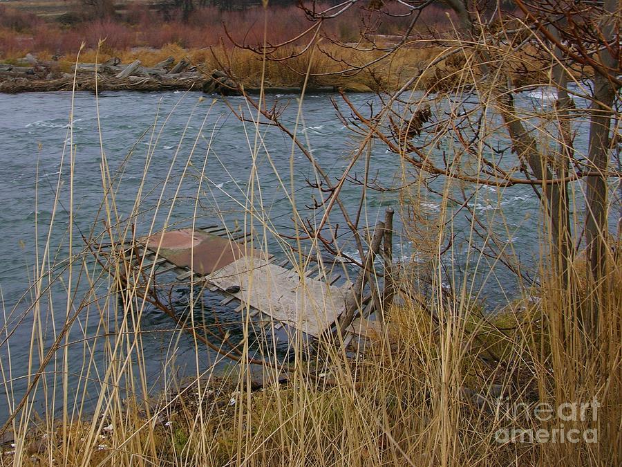 Native American Photograph - Fishing Platform  by Carol Groenen