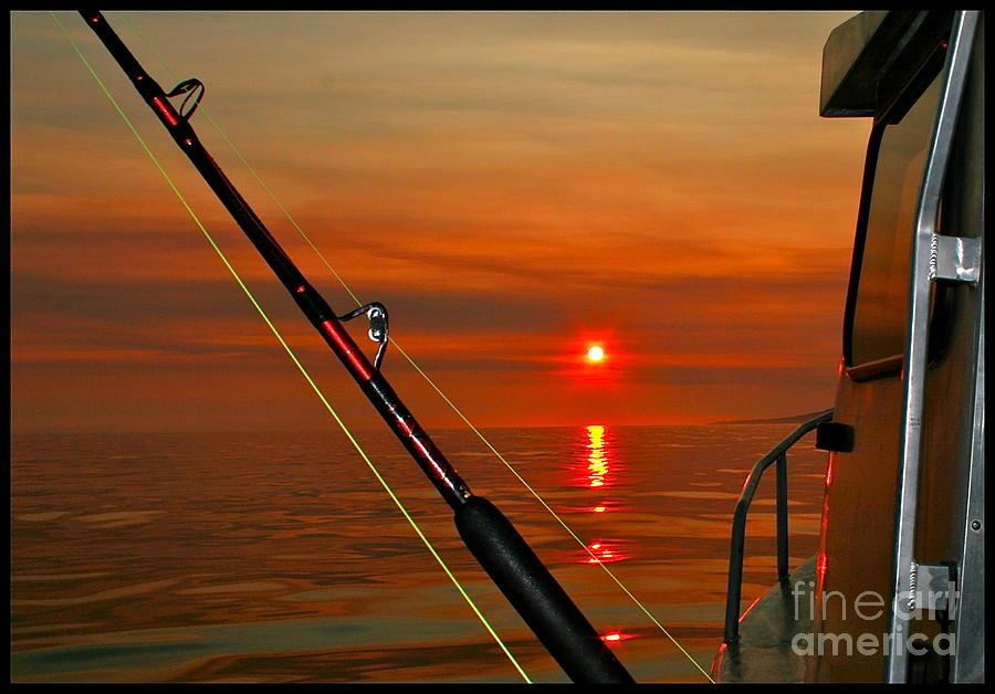 Sunset Photograph - Fishing The Midnight Sun by Rick  Monyahan