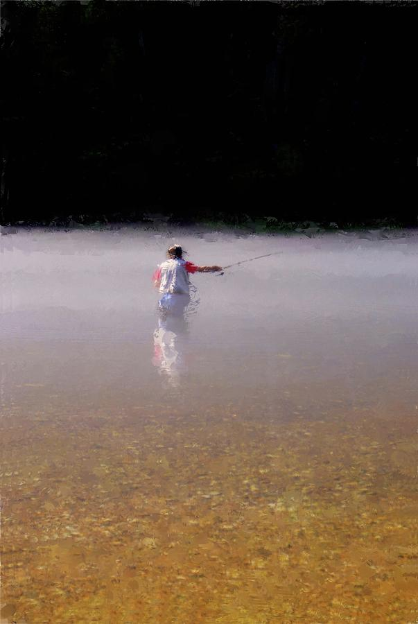 Trout Photograph - Fishing The White River by Russell Owens