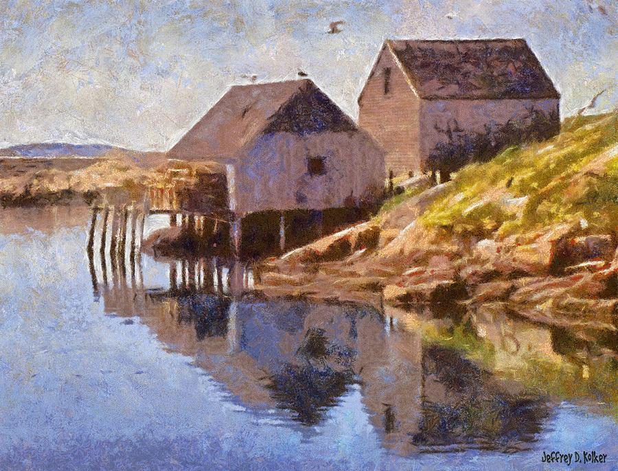 Canadian Painting - Fishing Wharf by Jeffrey Kolker