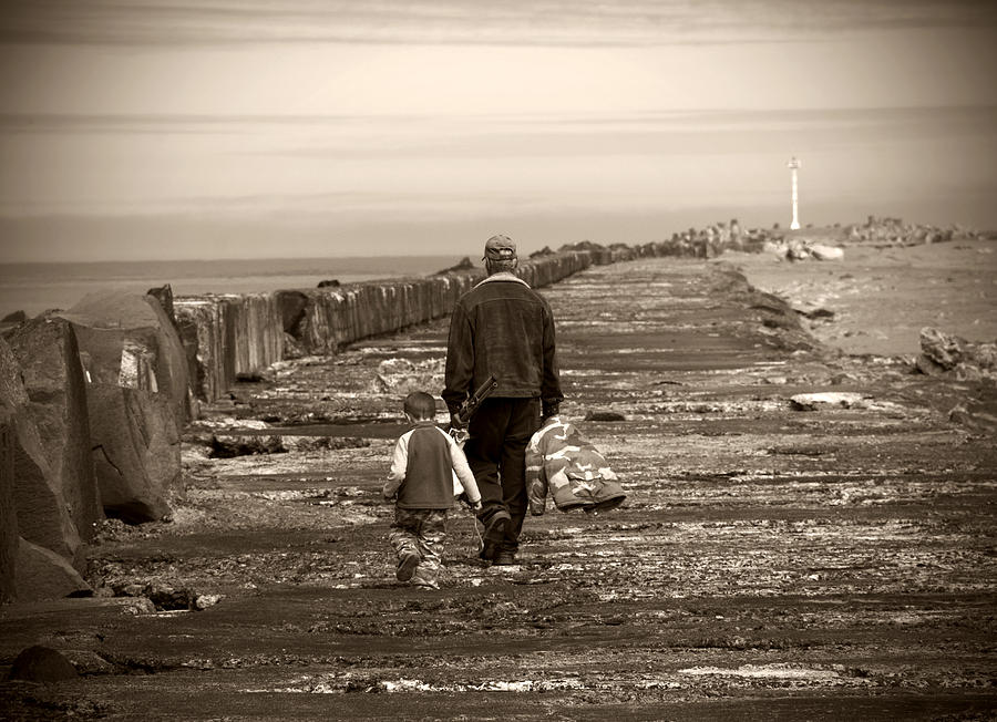 Fishing Photograph - Fishing With Grandpa by Jessica Wakefield