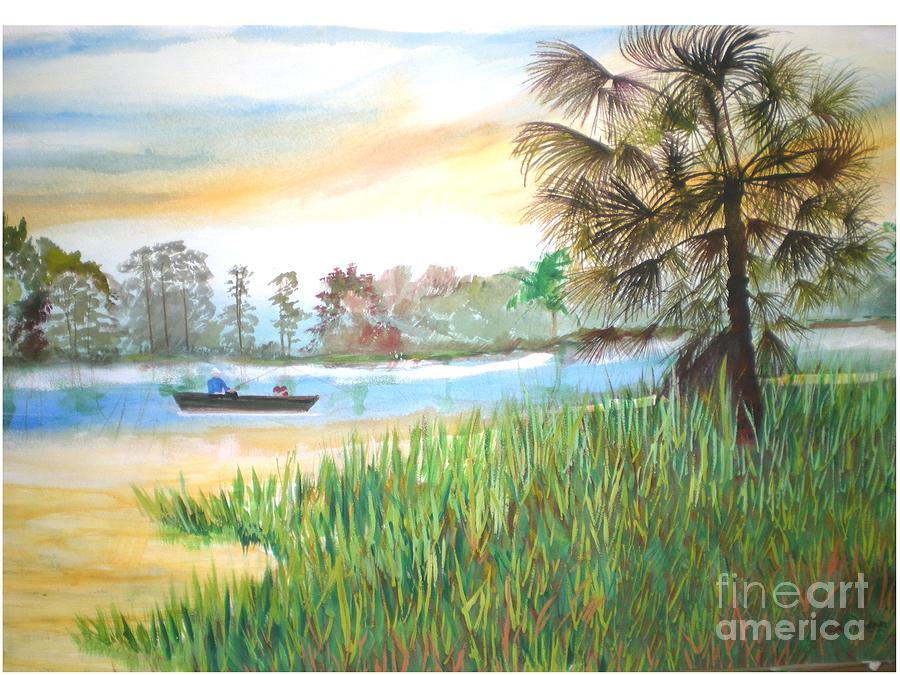 Theme Painting - Fishing With My Son by Hal Newhouser