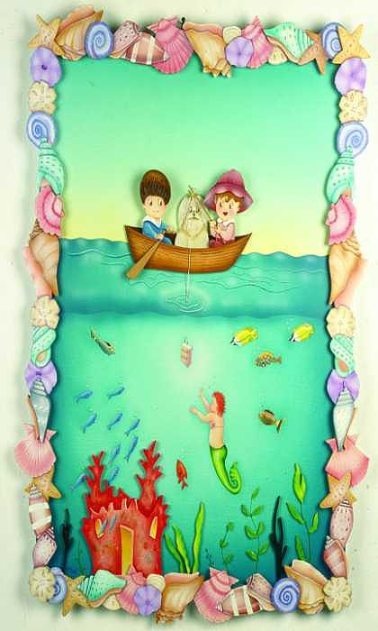 Mermaid Painting - Fishing With The Fishers by Valerie Walsh