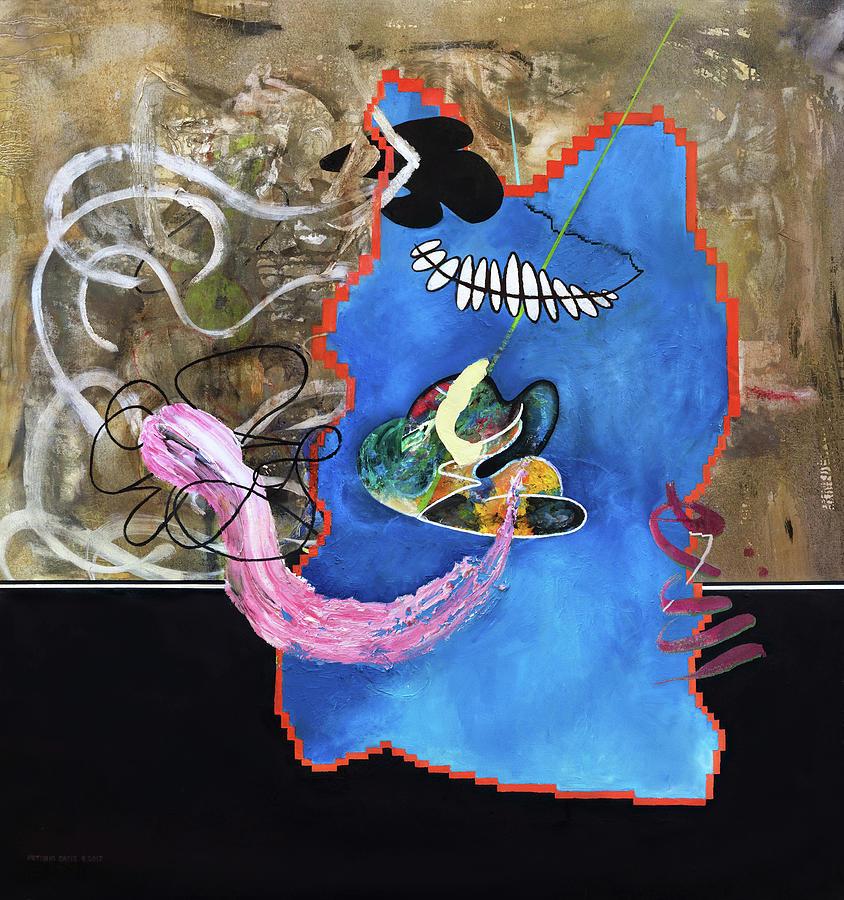Abstract Painting Painting - Fishtank  by Antonio Ortiz