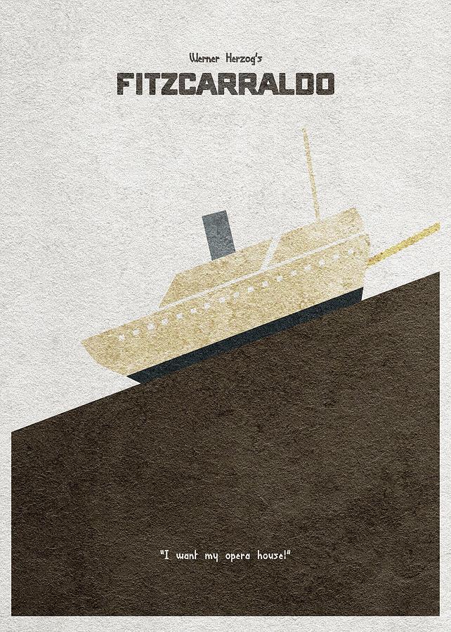 Fitzcarraldo Digital Art - Fitzcarraldo Alternative Minimalist Poster by Inspirowl Design