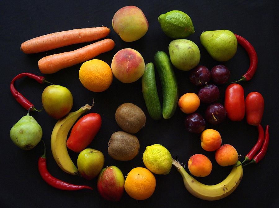 Fruit Photograph - Five A Day by Donald Buchanan