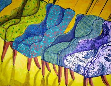 Five Chairs Painting by Michele Vavonese