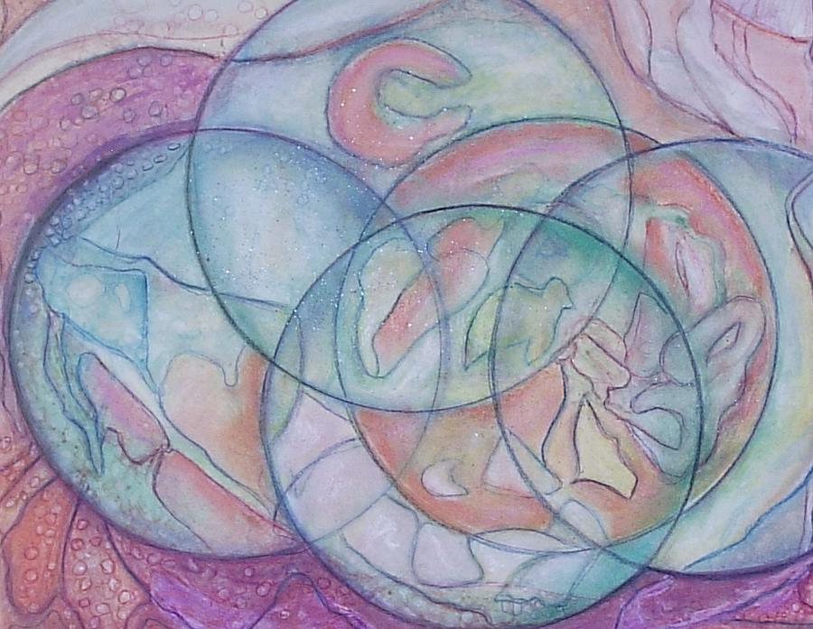 Mystical Painting - Five Dimensions In Motion by Patricia High