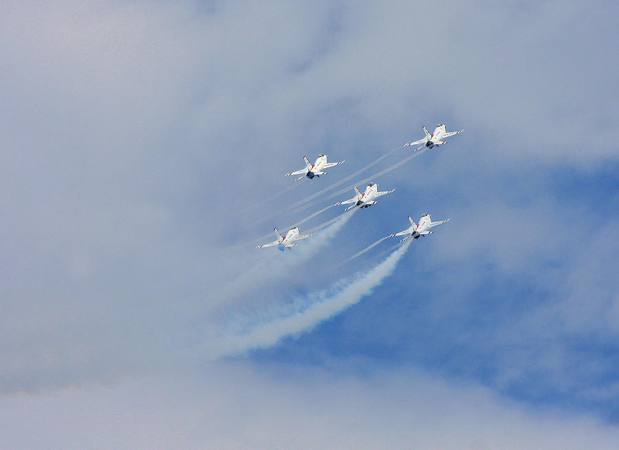 Airplanes Photograph - Five High by Dave Clark