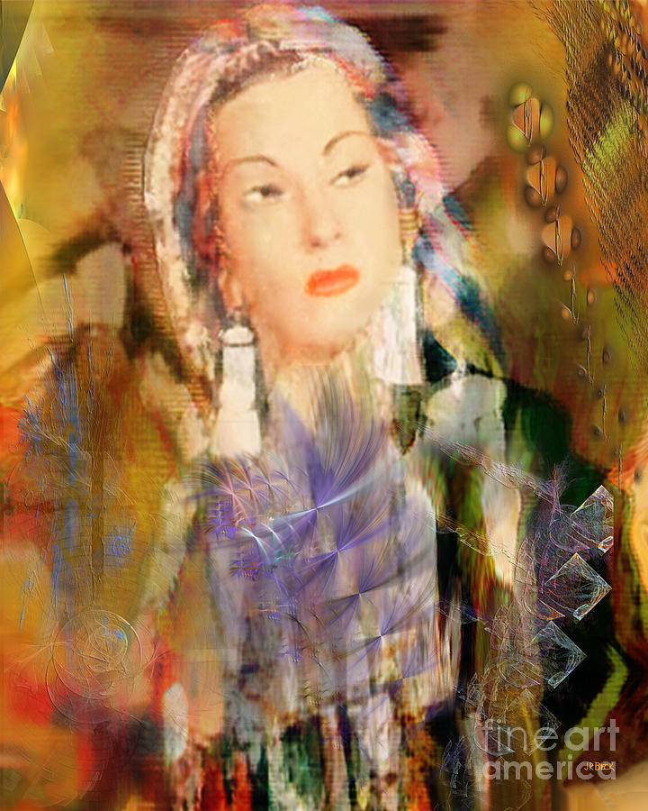 Yma Sumac Digital Art - Five Octaves - Tribute To Yma Sumac by John Beck