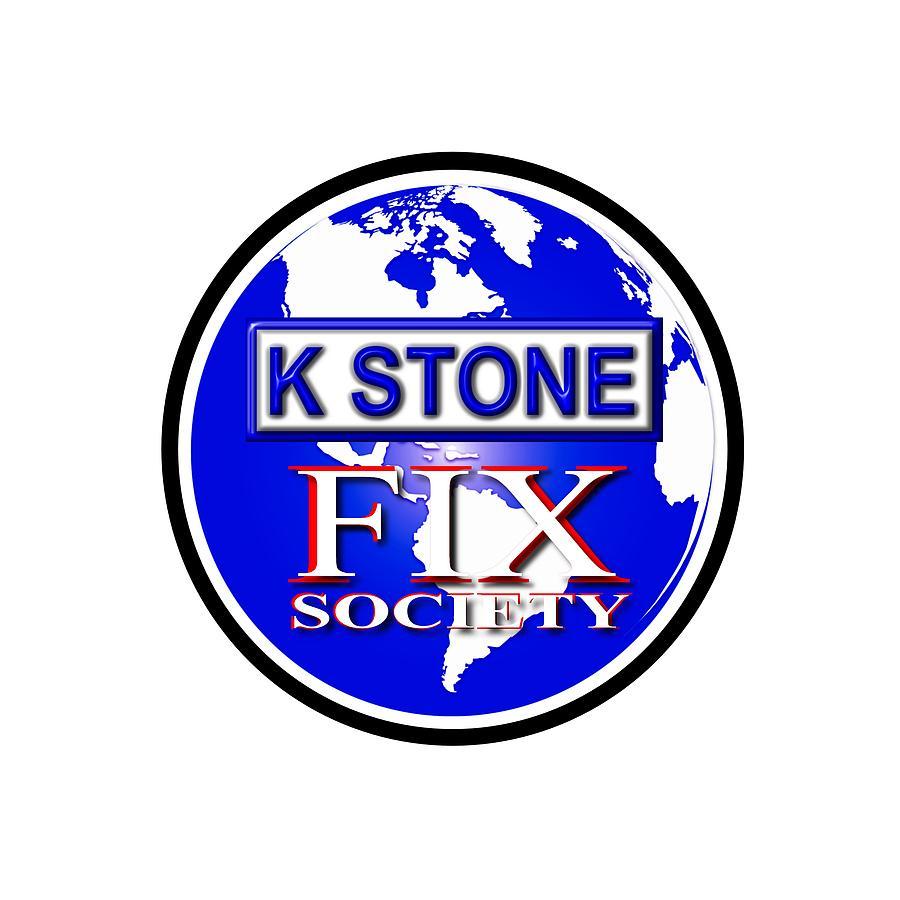 K Stone Digital Art - Fix Society by K STONE UK Music Producer
