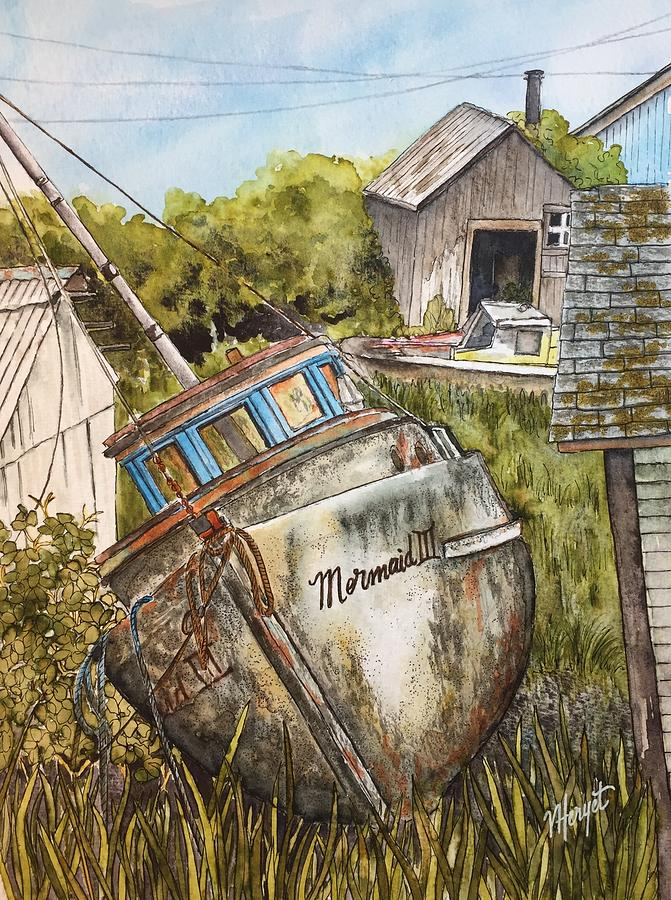 Boat Painting - Fixer Upper by Victoria Heryet