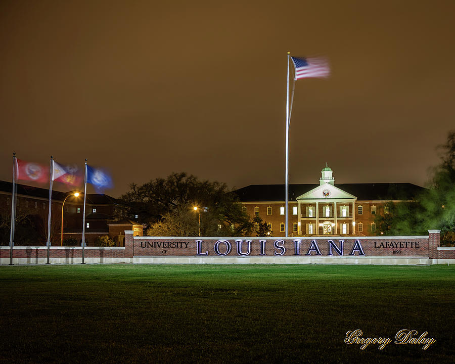 Flag At Night In Wind Photograph by Gregory Daley  MPSA